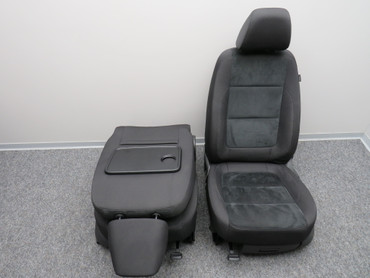 Original Sitze Fahrersitz Beifahrersitz Stoff Alcantara schwarz VW Tiguan 5N2 – Bild 7