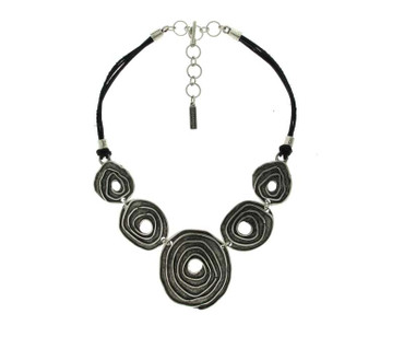Collier im Altsilberlook - 1028-CO - nickelfrei