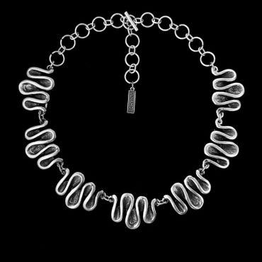 Collier im Altsilberlook - 1264-CO - nickelfrei