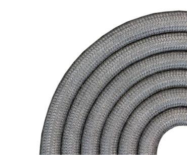 Kunststoffband / Textiloptik in hellgrau, 3mm, L60cm, 1963-BD-F