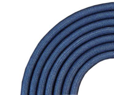 Kunststoffband / Textiloptik in blau, 5mm, L80cm, 1985-BD-J
