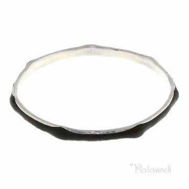 Armreif 925 Silber mit eingefasstem Leder in Dunkelbraun