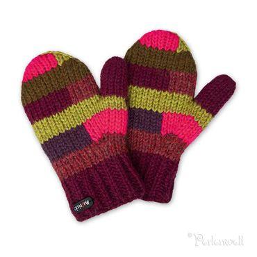 Kids Handschuhe Adil Kids Mittens Handschuhe bordeaux-grün