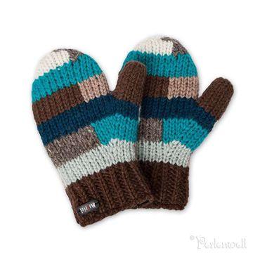 Kids Handschuhe Adil Kids Mittens Handschuhe braun-türkis