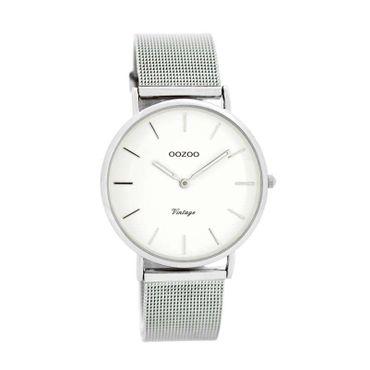 Uhr Vintage silver white