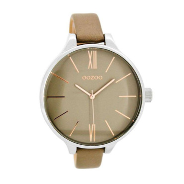 Uhr Classic taupe silver rosegold