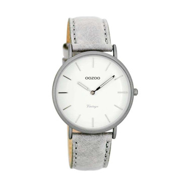 Uhr Vintage light grey white