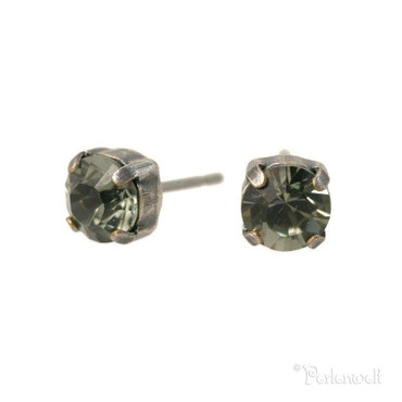 Ohrschmuck 6mm Black Diamond