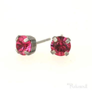 Ohrschmuck 6mm Indian Pink