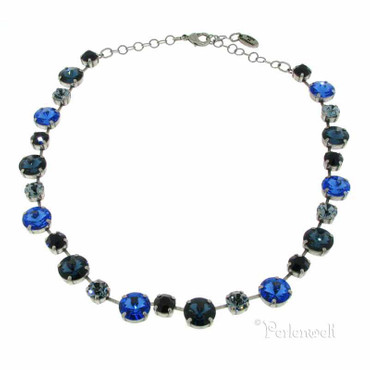 Collier Glitzerschön GS Dark Indigo-Saphire-Mix