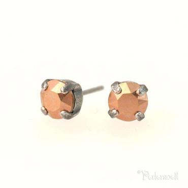 Glitzer-Ohrring 6mm Rose Gold