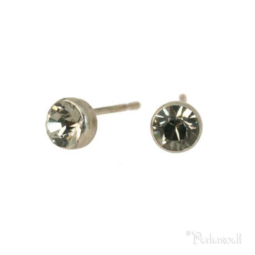 Ohrschmuck Ministecker 5mm Black Diamond