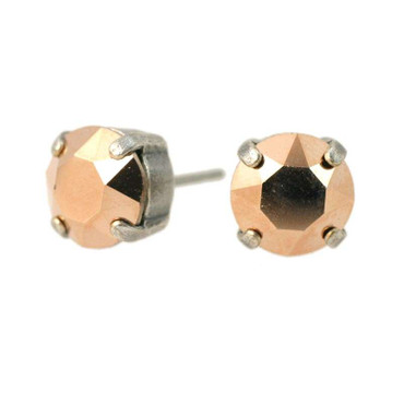 Glitzer-Ohrring 8mm Rose Gold