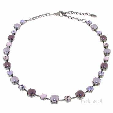 Halskette Perle/Kristall violett