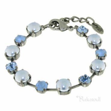 Armband SwP/Kristall blau