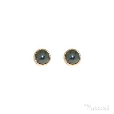 Glitzer-Ohrring Black Pearl