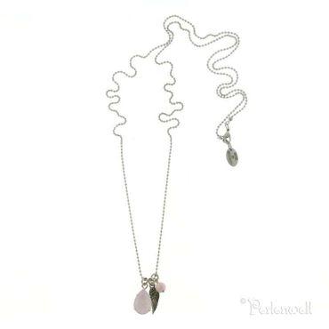 Amulett Sloop Amulett Tropfen Crystal Rose