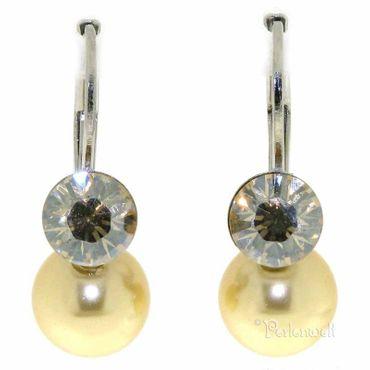 Ohrschmuck Perle/Kristall Gold