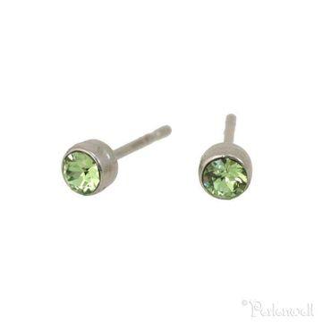 Glitzer-Ohrring 3mm Peridot