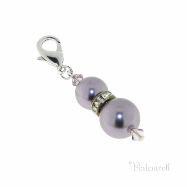 Charm Perle Strassrondell Mauve