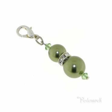 Charm Perle Strassrondell Ligt Green