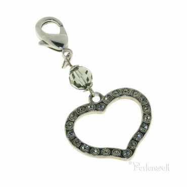 Charm Strass Herz Bl.Diamond