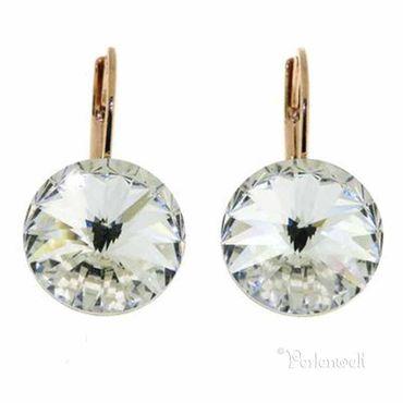 Glitzer-Ohrring Rosegold Crystal