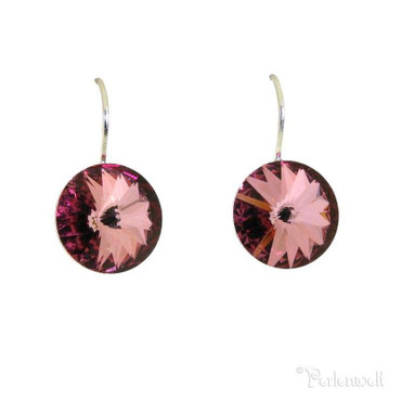 Glitzer-Ohrring 12mm Antique Pink