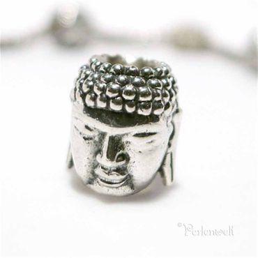 Silberperle Buddha Kopf von Redbalifrog