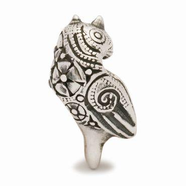 Silberperle: Geschmückter Vogel