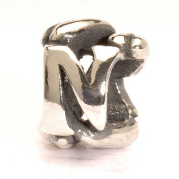 Silberperle: N - Bead