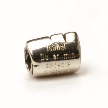 Silberperle: Schriftrolle, klein