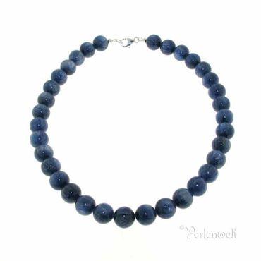 Halskette blau-silbriger Kyanit