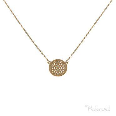 Halskette Blume des Lebens rosegold