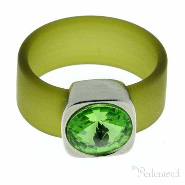 Belt Ring 12 mm Peridot