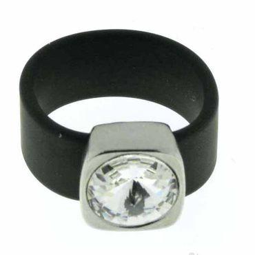 Belt Ring 12 mm Crystal/schwarz