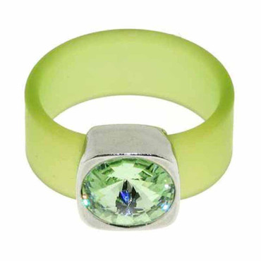 Belt Ring 12 mm Chrysolith/hellgr