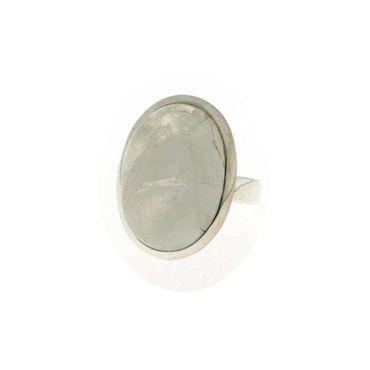 Ring Mondstein oval, 925 Silber