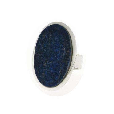 Ring Lapislazuli oval, 925 Silber