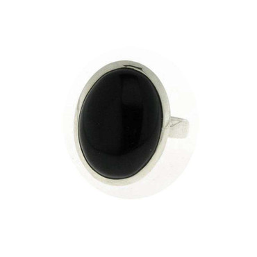 Ring Onyx oval, 925 Silber