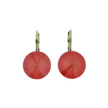 Glitzer-Ohrring 12mm Light Coral
