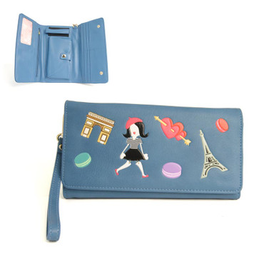 Geldbörse I Love Paris Flap Wallet