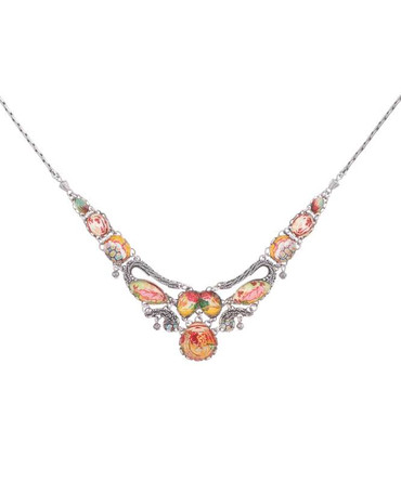 Collier Coral Cave R3182 Korall-orange -gelb