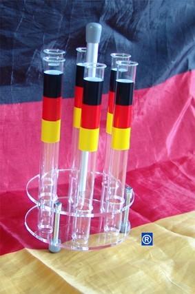 Reagenzgläser Set Party Aus 100 Stck Reagenzgläser 160 Mm X 16 Mm Inkl Acrylständer Aufkleber In Schwarz Rot Gelb
