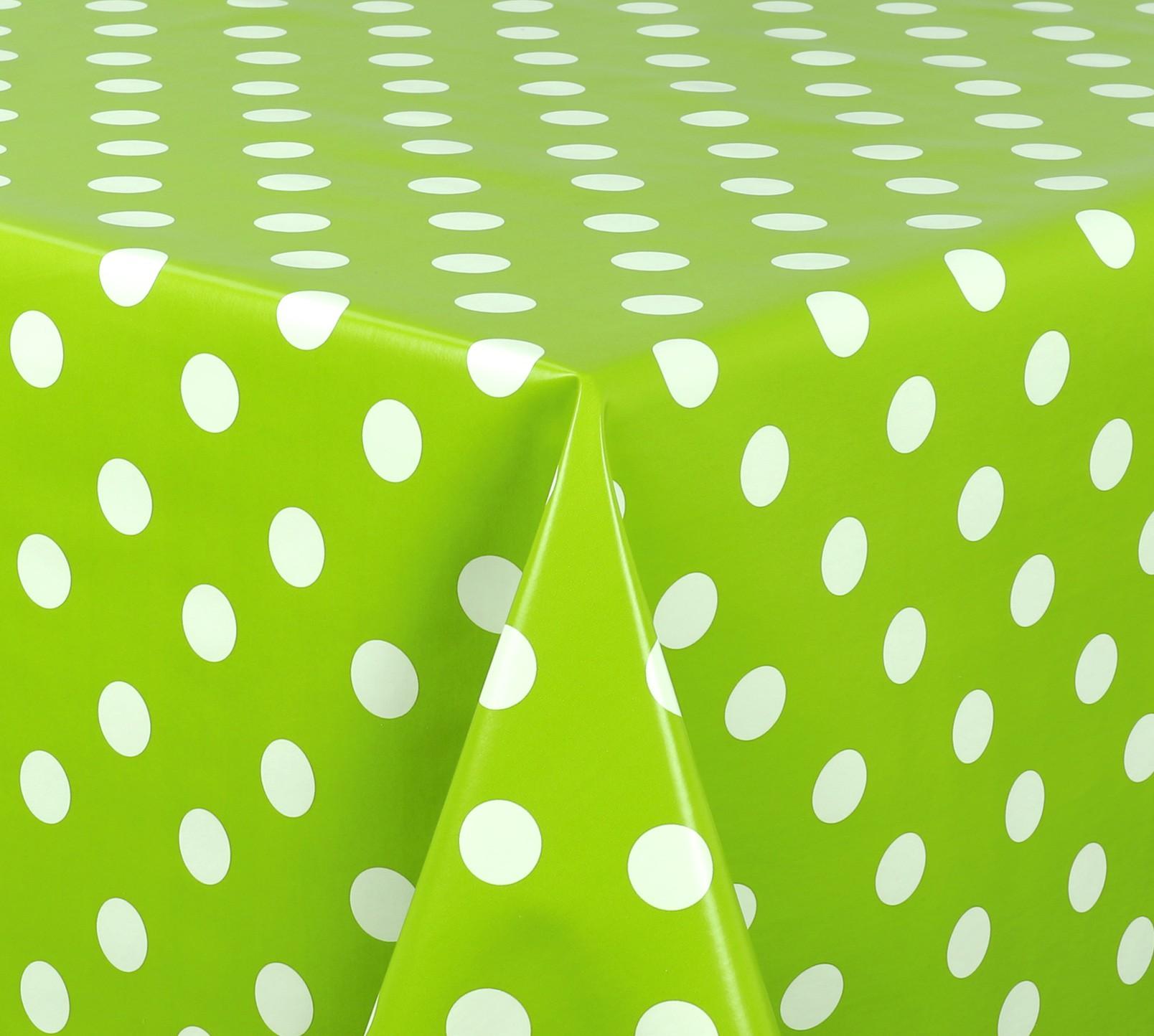 wachstuch tischdecke abwaschbar meterware glatt punkte. Black Bedroom Furniture Sets. Home Design Ideas