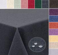Tischdecke Leinen Optik Brilliant, wasser- und schmutzabweisend, Größe u. Farbe wählbar – Bild 1