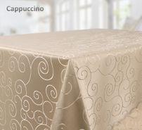 Tischdecke Ornamente Kreise Motiv, Bronze Damast Stoff, Größe und Farbe wählbar – Bild 6