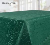 Tischdecke Ornamente Kreise Motiv, Bronze Damast Stoff, Größe und Farbe wählbar – Bild 12