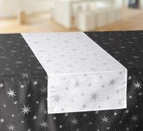 Lurex Sterne Tischläufer, Gold, Silber, Grau, Rot glänzend, Weihnachtstischband Größe wählbar – Bild 4