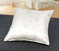 Lurex Sterne Kissenhülle 2 Stück, Gold, Silber, Grau, Rot glänzend, Größe wählbar – Bild 5